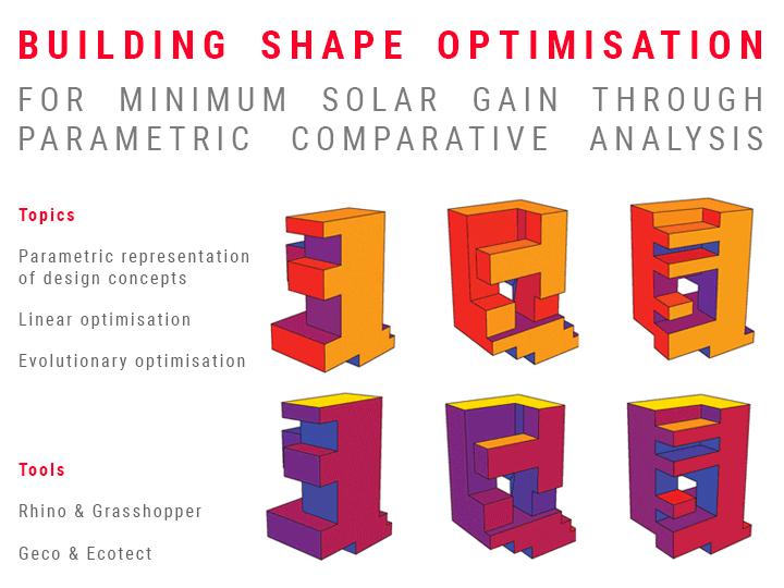 BUILDING SHAPE OPTIMISATION FOR MINIMUM SOLAR GAIN THROUGH PARAMETRIC COMPARATIVE ANALYSIS